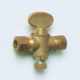8mm Brass Gas Isolation Valve - Butterfly Handle - 07000740